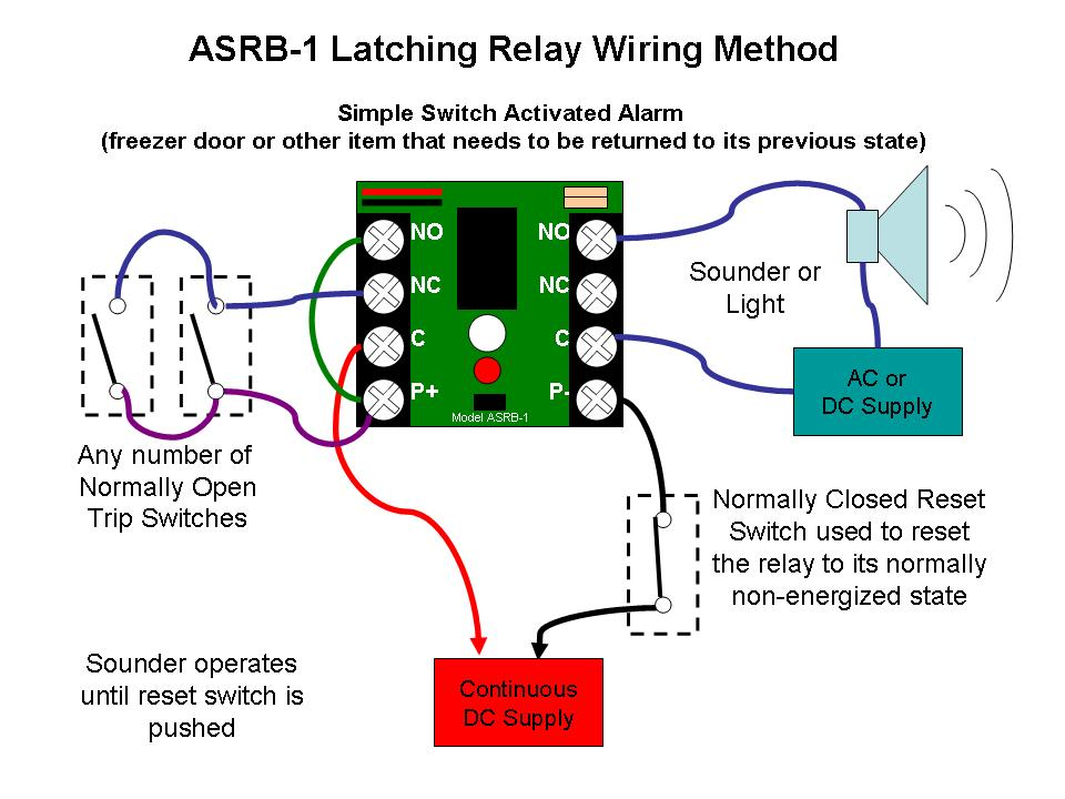 ASRB 1 Latching Relay with Horn asrb 1 technical documents latching relay wiring diagram at readyjetset.co