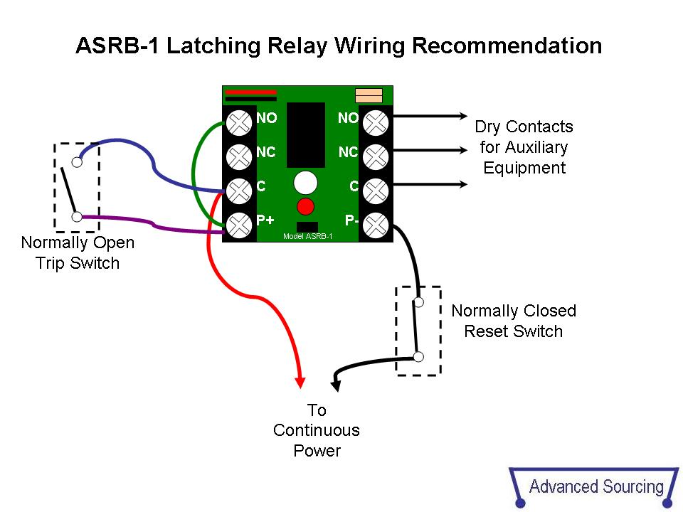 Latching Relay asrb 1 technical documents latching relay wiring diagram at readyjetset.co